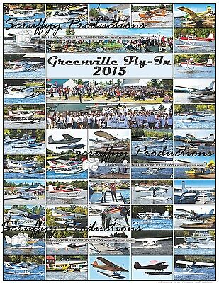 Greenville Seaplane Fly-In 2015 Aircraft Poster - Aviation Float Flying Event