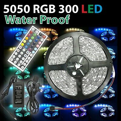5M-30M Full Kit 5050RGB IN SERIES CONNECT LED Strip Light+Controller+Transforme