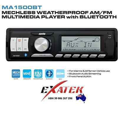 Axis Ma1500Bt - Bluetooth Am/fm Multimedia Receiver Watertight Face