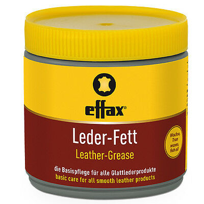 Effax Leather Grease BLACK restore faded all Leather Saddlery  500g