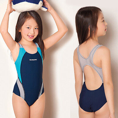 Hot Kids Girls Swimwear Leotard Bathing Suit Swimsuit Backless Tankini Comfy 1PC