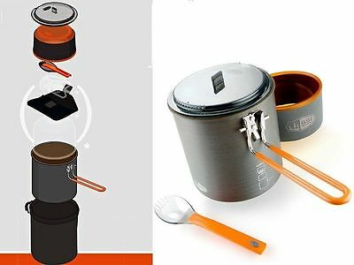 GSI OUTDOORS PINNACLE SOLOIST 50146- Integrated Cooking, Eating Solution