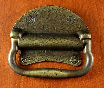 Vintage KEELER BRASS Heavy Backplate SOLID Bail Handle KBC N-3181 Holes 2""