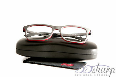 a33c2f185d RAY-BAN RB 7062-F 7062F 5576 Grey Red Eyeglasses Eyewear Frame 55-18 ...