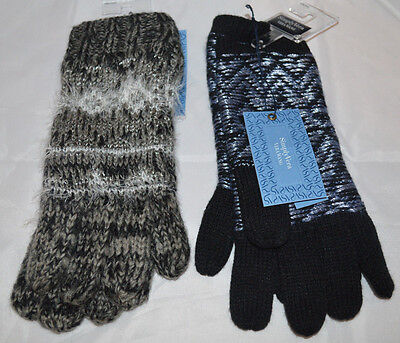 (2) Pairs Of Women's Simply Vera Wang, One Size Cold Weather Gloves