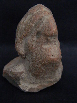 Ancient Teracotta Idol Head Indus Valley 1000 BC #TR15178
