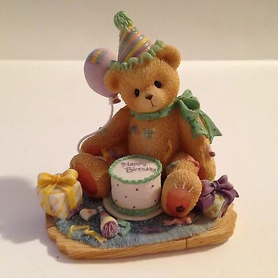 Cherished Teddies Classic Vintage B/Day Bear Figurine Collectible by Enesco 1997