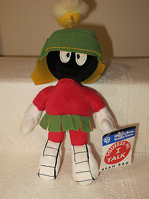 "WARNER BROS. ""SQUEEZE ME Marvin the Martian""  9"" BEANBAG/PLUSH /1998/ NWT - RARE"