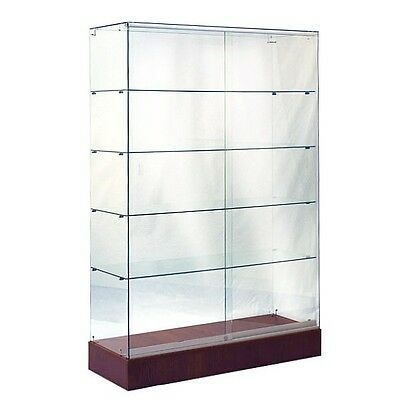 #sagw4Che 6'tall Full Vision All Glass Wallcase Trophy Glass Display Case Cherry