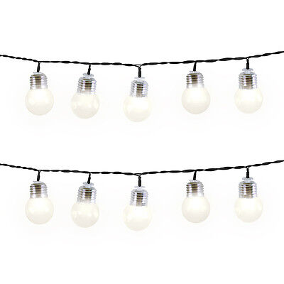 50 LED Warm White Retro Bulb Lights Indoor Outdoor String Light Bulbs