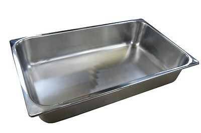 6 x Full Size 1/1 150mm Bain Marie Gastronorm GN Pan Tray Stainless Steel