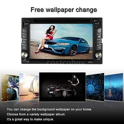 "6.2"" 2 Din Car Stereo DVD/USB/SD Player GPS Navi Bluetooth Radio UK Q7G2"