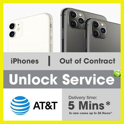 Factory Unlock Code Service IMEI AT&T for iPhone 11 XS XR X 8 7 fast 5m - 24hrs