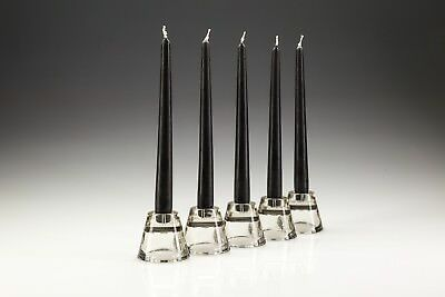 100 x 25cm Black Tapered Dinner Candles. High Quality wax. Gala candles.