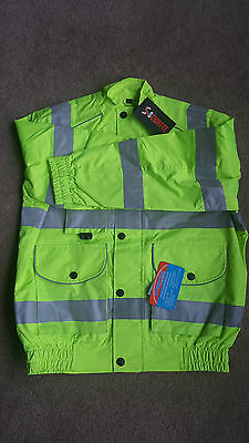 Hi-Vis waterproof Safety Bomber Reflective Work Jacket HIGH VISIBILITY SC-SF-01