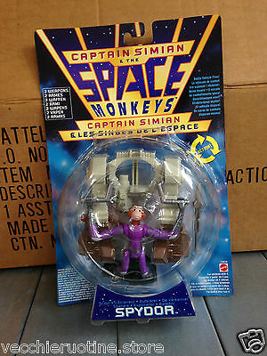 MATTEL action figure CAPTAIN SIMIAN e SPACE MONKEYS SPYDOR VEICOLO COMBATTIMENTO
