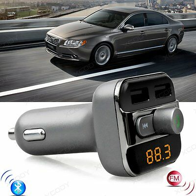 Wireless Bluetooth Car Kit FM Transmitter MP3 Player USB Charger For SmartPhone