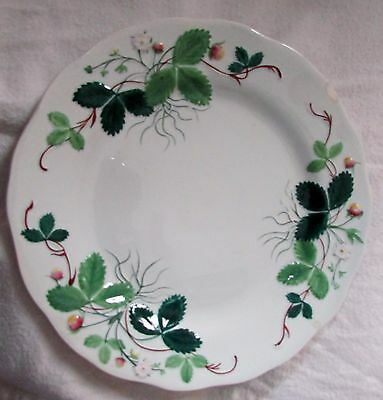 Antique Creil and Montereau Earthenware Luncheon Plate Strawberry Blossom