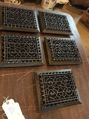 Tc 115 Five Available Price Separate Antique Heat Grate 9.25 X 11.125
