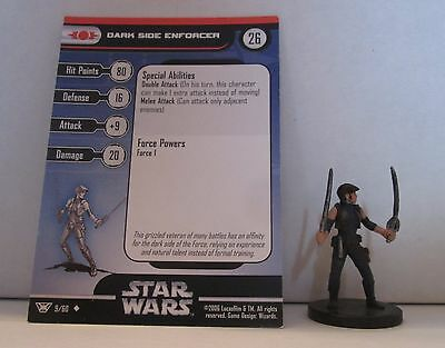Dark Side Enforcer 9/60 Star Wars Miniatures Minis Champions of the Force