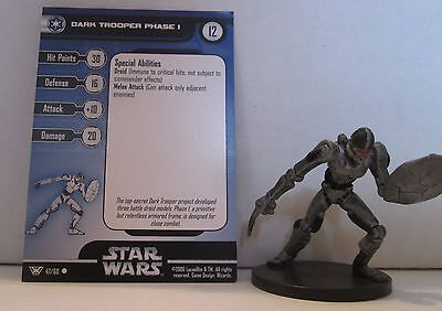 Dark Trooper Phase 1 47/60 Star Wars Miniatures Minis Champions of the Force