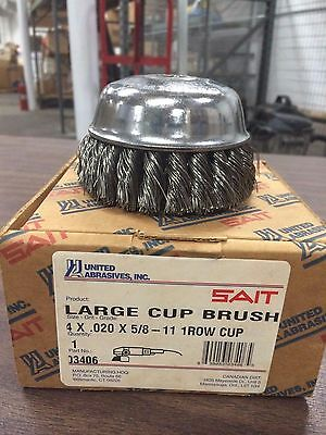 United Abrasives SAIT 4 X .020 X 5/8 -11  Cup Brush Carbon Steel Wire Knot GW-3