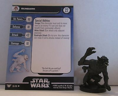 Gundark 56/60 Star Wars Miniatures Minis Champions of the Force