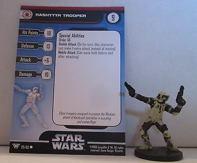 Kashyyyk Trooper 28/60 Star Wars Miniatures Minis Champions of the Force