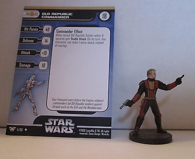 Old Republic Commander 5/60 Star Wars Miniatures Minis Champions of the Force