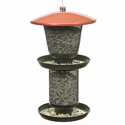 No/No Multi-Seed Wild Bird Feeder, Red and Black, RBMT00341