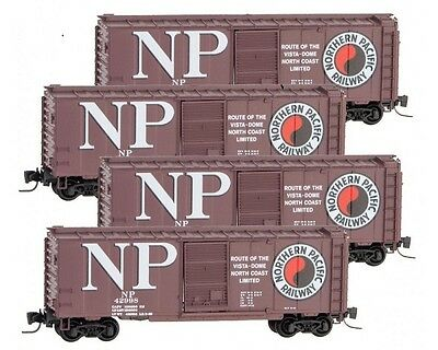 MTL #994 00 087 Z Scale Northern Pacific 40' Box Car Runner Pack #87
