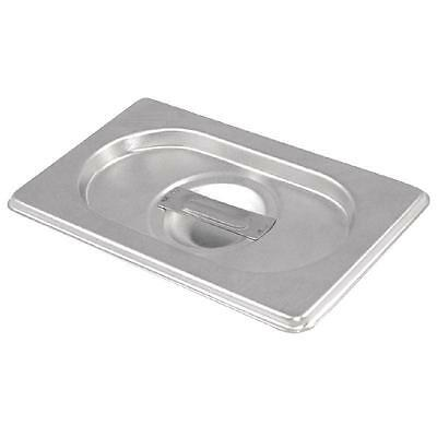 6 x Third Size 1/3 Bain Marie Gastronorm GN Pan Lid Cover Stainless Steel