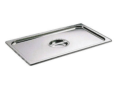 6 x Full Size 1/1 Bain Marie Gastronorm GN Pan Lid Cover Stainless Steel