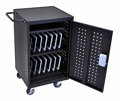 Luxor 30 Tablet / Chromebook Charging Cart - LLTM30-B Charging Station Cart NEW