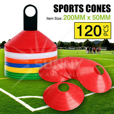 120 Disc Markers Training Cones Football Soccer Rugby Afl Touch Group Fitness Au
