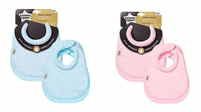 Tommee Tippee  Ctn Milk Feeding Bibs 2 in a  pack extra Absorbant 0m+ cotton
