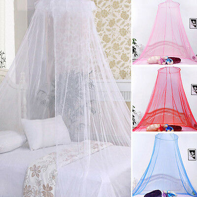 Elegant Round Lace Insect Canopy Netting Curtain Bed Outdoor Dome Mosquito Net G