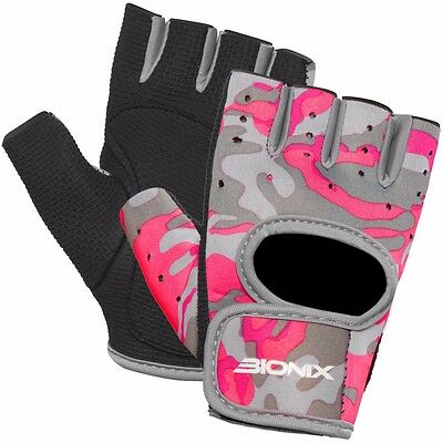 Neoprene Ladies Pink Gym Gloves Weight Lifting Fitness Workout Exercise Cycling