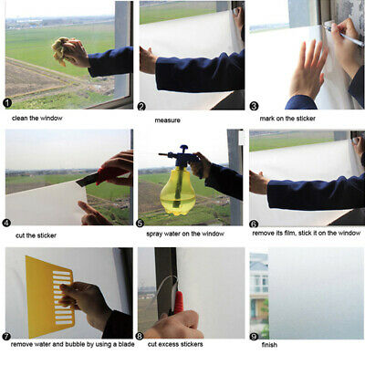 45x200cm Removable Privacy Frosted Glass Window Static Adhesive Film Sticker