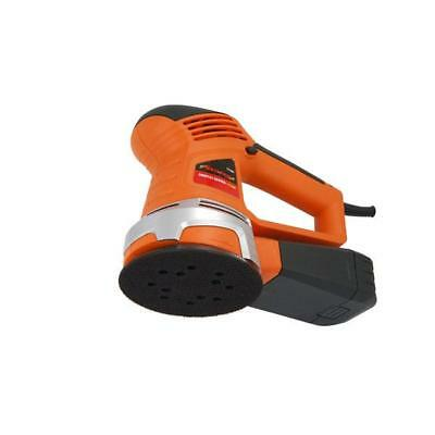 "125mm 5"" Electric Orbital Sander 450W + Dust Collection Box + FREE 6 pack discs"