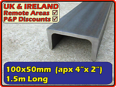 "Mild Steel Channel Iron (C U ramp) | 100x50mm (4"" x2"") 100mm 