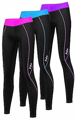 FDX Womens Compression Base Layer Tights Fitnes Yoga High Waist Runing Gym Pants