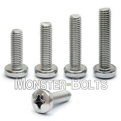 2.5mm (M2.5)  - Stainless Steel Phillips Pan Head Machine Screws DIN 7985A