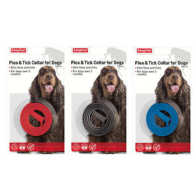 Beaphar Flea and Tick Collar Dogs Plastic Kills Fleas Ticks Prevents 4 months