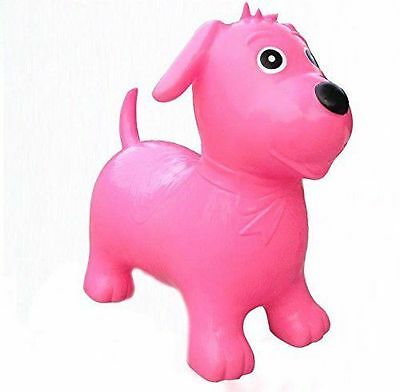 Happy Hopperz Pink Dog Childrens Ride-On Inflatable Bouncer Space Hopper