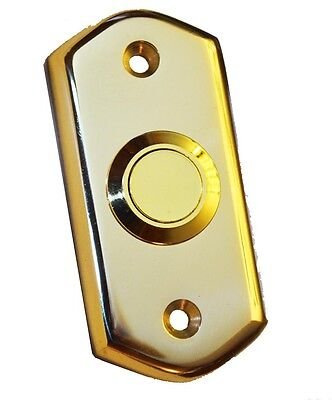 Polished Brass Victorian style Door Bell Push Switch by Carlisle Brass (AQ31)