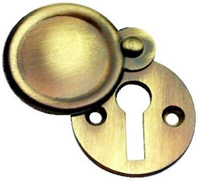 Solid Antique Polished Brass Victorian Door Key covered Escutcheon (XL103)