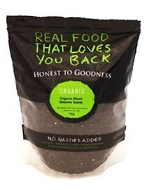Honest To Goodness Organic Black Sesame Seeds 1kg