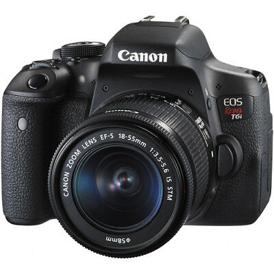 Canon EOS Rebel T6i DSLR Camera with EF-S 18-55mm Lens #0591C003 BRAND NEW