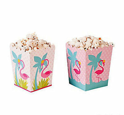Lot of 24 Pink Flamingo TREAT SNACK BOXES Luau Tropical Beach Party Favor